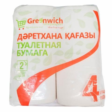 Бумага туалетная GREENWICH 2 сл 4 рул КАЗАХСТАН