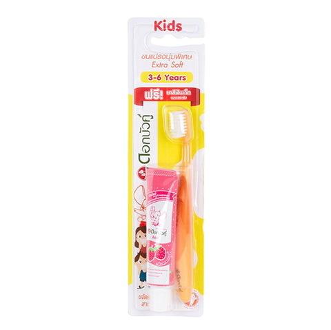 Детская экстра мягкая зубная щетка Twin Lotus, 3-6 лет.