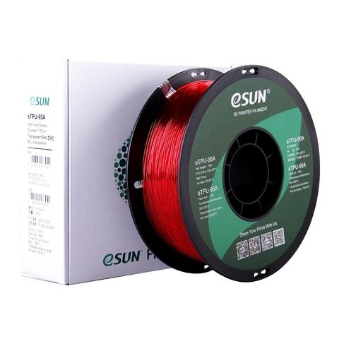 ESUN eTPU95A, 1.75 мм, 1 кг, прозрачно-красный
