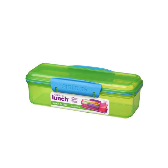 "Ланч-бокс Sistema ""Lunch"" с разделителем, 410 мл, цвет Зеленый"