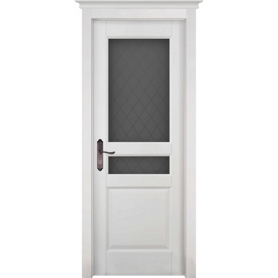 Двери из массива дерева Межкомнатная дверь массив ольхи ОКА Валенсия белая эмаль остекленная venecia-po-belaya-min.jpg