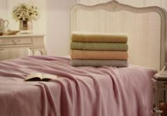 Покрывало вязаное 1,5-спальное Tivolyo home SERA 180х240 см зеленое