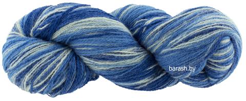 Пряжа Кауни  8/2  Blue - white (Небо)