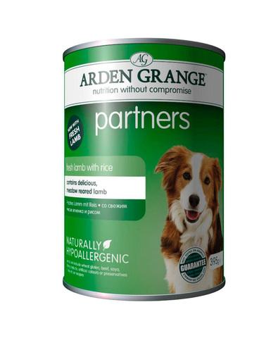 Arden Grange Partners консервы для собак с Ягненком и рисом 395 г