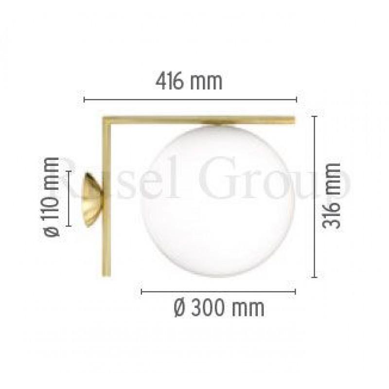 Настенный светильник Flos IC C/W2