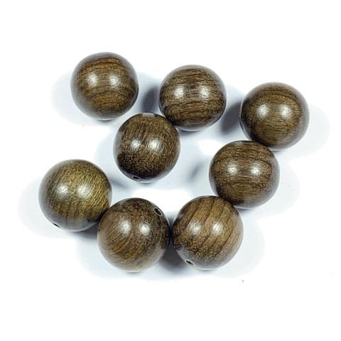 Бусина из эбенового дерева шар 12 мм 1 бусина