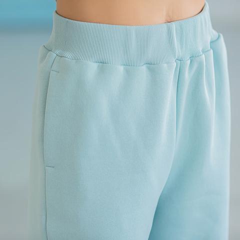 Warm trousers for women - Aqua