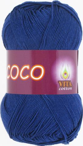 Пряжа Vita Coco 3857 темно-синий