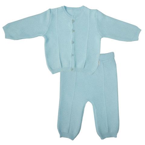 Папитто. Комплект кофточка и штанишки, голубой