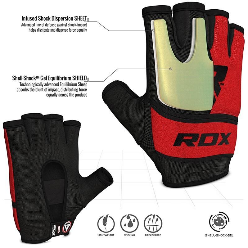 Капы и бинты Быстрые бинты RDX Grappling Glove Gel X6 Red 1.jpg