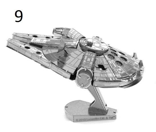 3D металлические модели техники из фильма Звездные войны