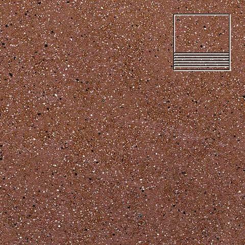Ceramika Paradyz - Taurus Brown, 300x300x11, артикул 5288 - Ступень простая структурная