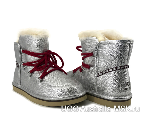 UGG & Jimmy Choo Lodge Mini Leather Silver