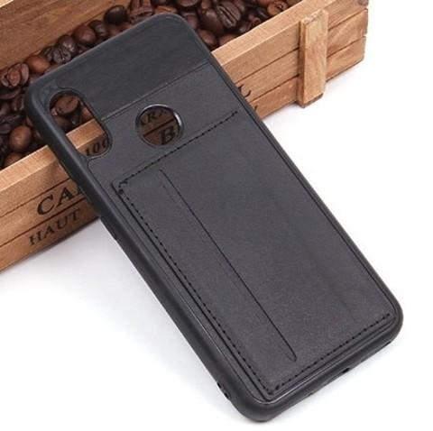 Чехол с карманом под пластиковые карты для Xiaomi Mi A2 Lite (чёрный)