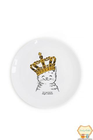 Тарілка маленька Кошеня в короні