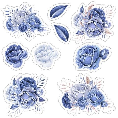 Печать на вафельной бумаге, Набор цветы 8