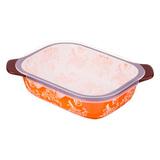 Блюдо для запекания с пластиковой крышкой 22х17 см, артикул 536-191, производитель - Agness