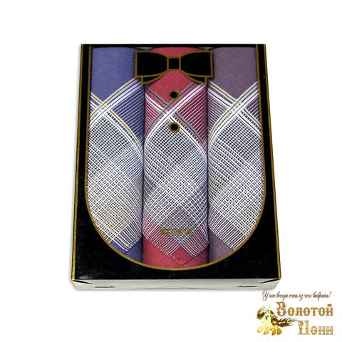 Набор мужских носовых платков 3 ШТ (42х42) 191203-PL1013