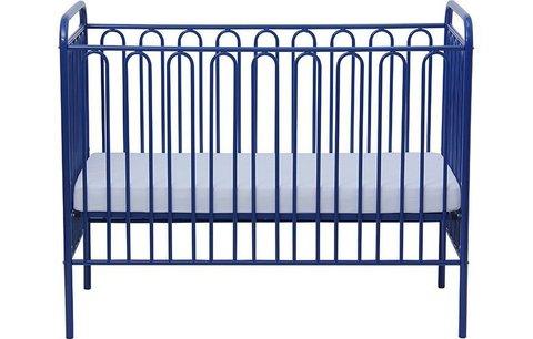 Кроватка детская Polini kids Vintage 150 металлическая, синий