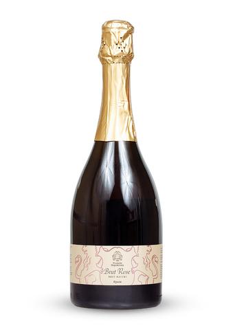 Вино игристое Розе. Брют Натюр выдержанное экстра брют розовое ТЗ Усадьба Перовских 0,75л.