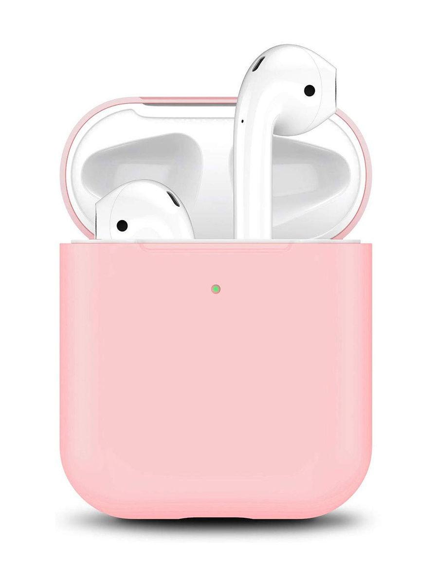 Гаджеты Силиконовый чехол для Apple Airpods розовый 10675999-1.jpg