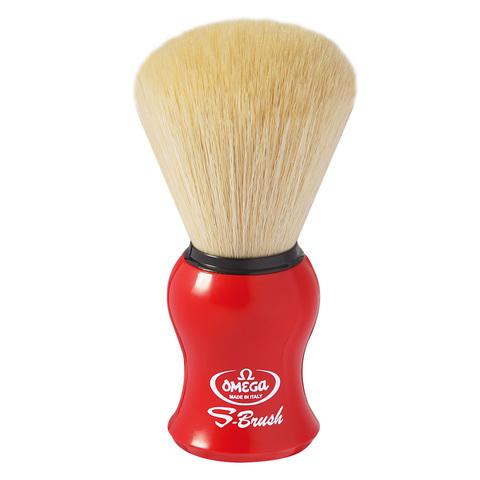 Помазок для бритья Omega синтетика красная ручка S10065