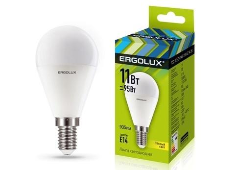Лампа Ergolux LED-G45-11W-E14-4K (холодный свет)