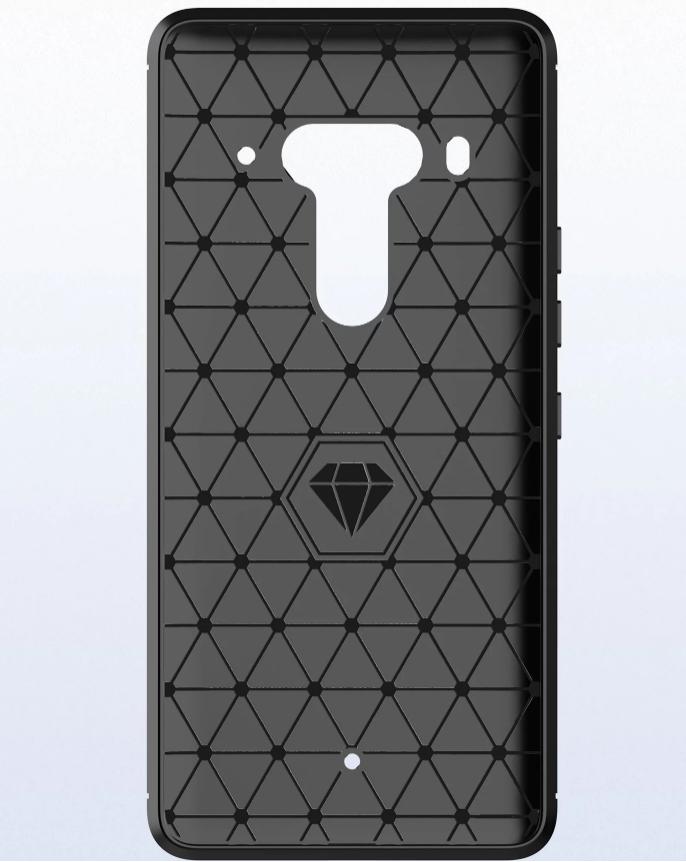 Чехол HTC U12 Plus (Exodus 1) цвет Black (черный), серия Carbon, Caseport