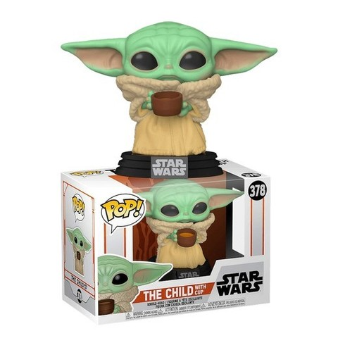 Funko POP: Star Wars The Mandalorian – The Child with cup (Baby Yoda 378)