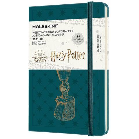 Еженедельник Moleskine (DHP18WN2) LE Harry Potter Pocket 90x140мм датир.18мес 208стр. зеленый