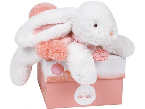 Doudou et Compagnie. Pompon MM rabbit coral 35cm