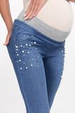 Джинсы для беременных (SLIM) 09683 синий