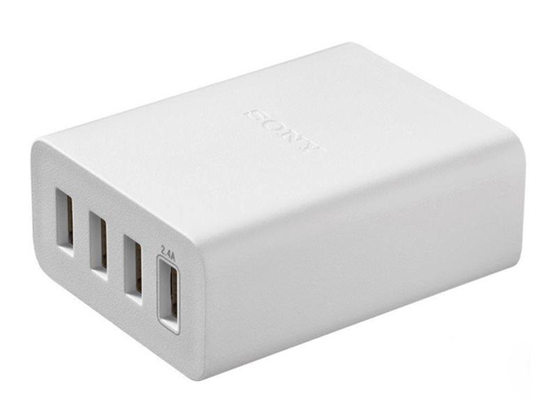 CP-AD2M4WC AC/USB адаптер 4 порта (6A) с кабелем А - B