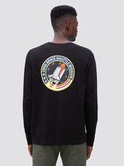 Лонгслив Alpha Industries Space Shuttle Black (Черный)