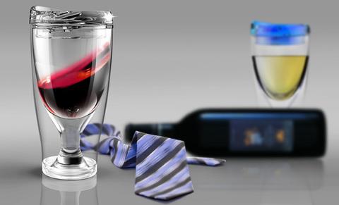 Бокал Asobu Ice vino 2go (0,48 литра), голубой