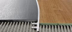 Радиусные, гнутые профили/пороги Progress Profiles Proelegant curve PELAACV 10 для напольных покрытий из ламината, паркета, керамогранита, ковролина, линолеума