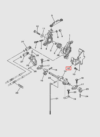 Опора рычага газа  для лодочного мотора T40 Sea-PRO (16-10)