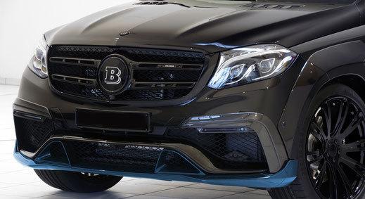 Карбоновый спойлер переднего бампера  для Mercedes GLS