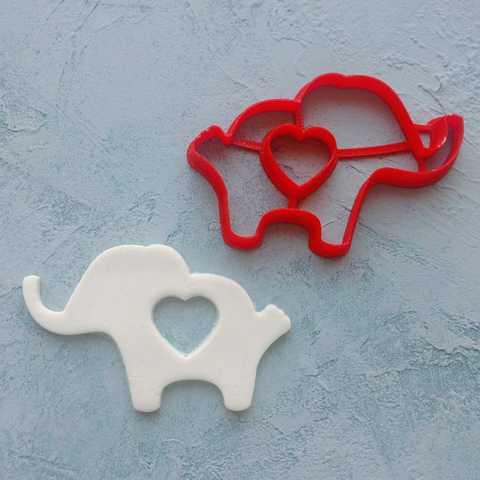 Слон с сердечком №3