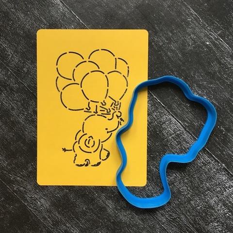 Слоненок с шариками