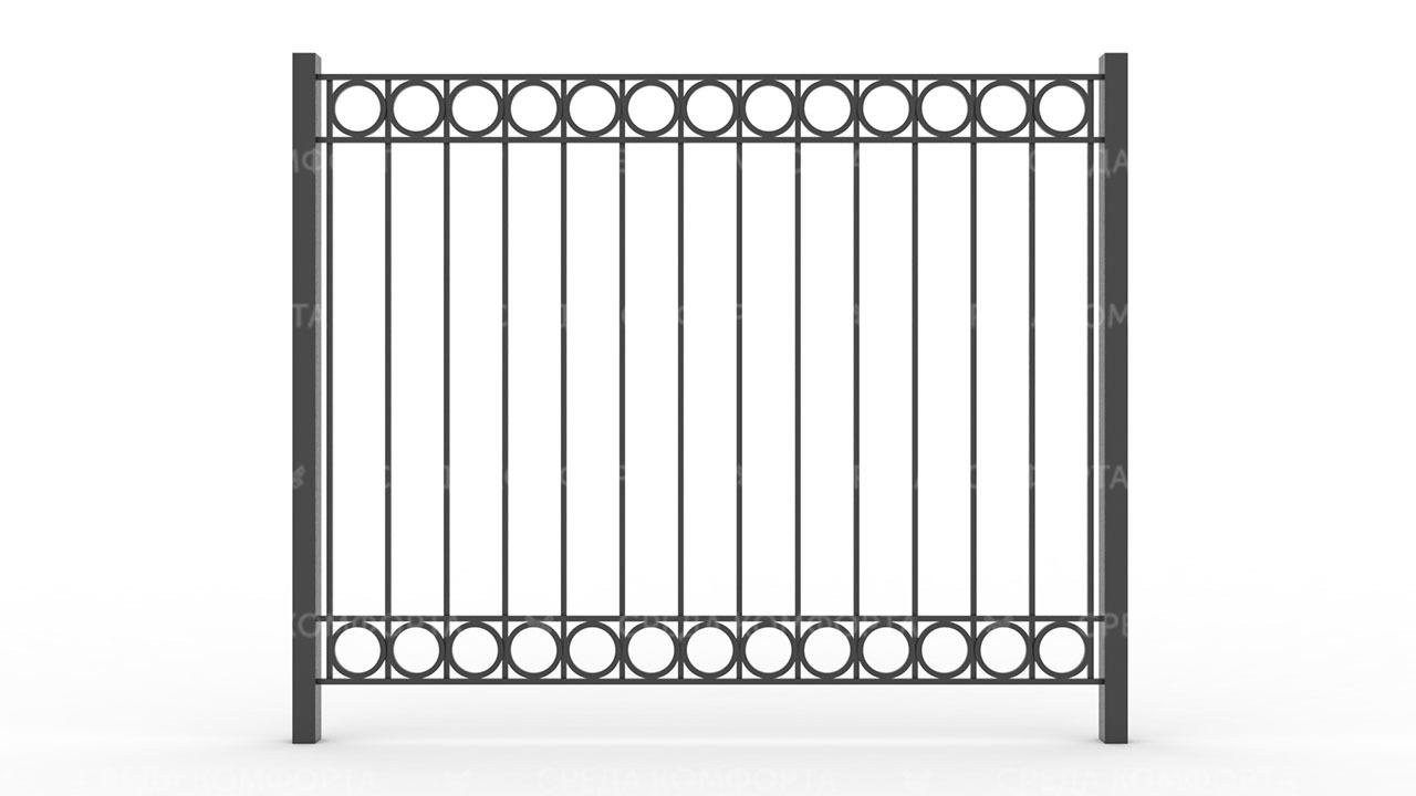 Забор из профильной трубы ZBR0141