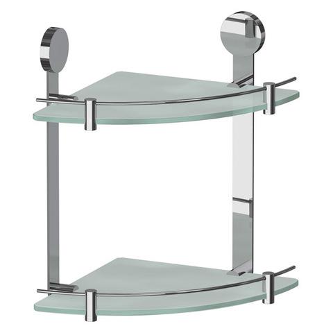 Полка стеклянная угловая двойная 24 см HARMONIE HAR 040 Artwelle