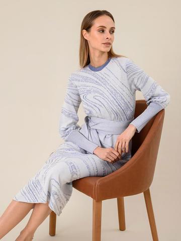 Женское платье молочного цвета из шерсти и вискозы - фото 3