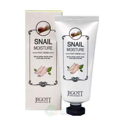 Крем для ног с улиточным муцином Jigott Snail Moisture Foot Cream