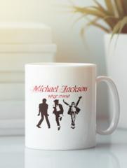 Кружка с изображением Майкла  Джексона (Michael Jackson) белая 007