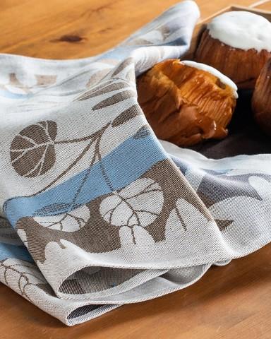 Жаккардовое полотенце изо льна и хлопка 50 х 70 см