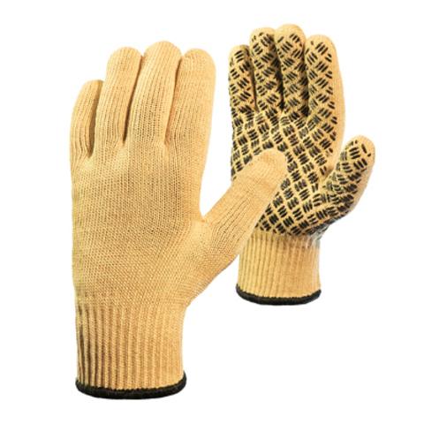 Трикотажные перчатки из пара-арамидной нити «Кевлар» со вкладышем и силиконовой сеткой (КНДР)