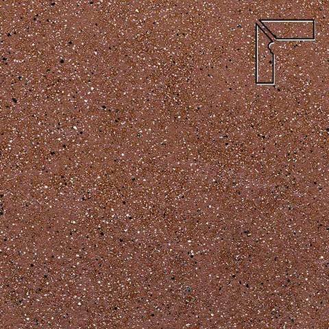 Ceramika Paradyz - Taurus Brown, 300x81x11, артикул 5293 - Цоколь левый структурный 2-х элементный