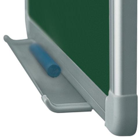Доска для мела магнитная, 60x90 см, зеленая, алюминиевая рамка, OFFICE