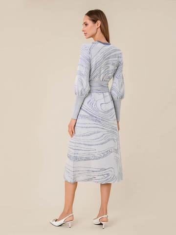 Женское платье молочного цвета из шерсти и вискозы - фото 2